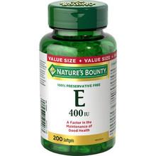 Nature's Bounty Vitamin E 400 IU 200 softgels | 029537504263