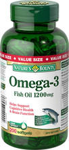 Nature's Bounty Omega 3 Fish Oil 1200 mg | 029537129992