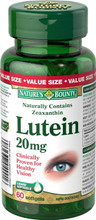 Nature's Bounty Lutein 20 mg | 029537049016