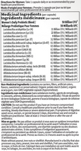 Garden of Life Dr. Formulated Probiotics Once Daily Women's 50 Billion Shelf Stable - Label | 658010120241