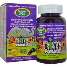 Nature's Plus Animal Parade Sugar Free Children's Chewable Multi Natural Grape   097467299122
