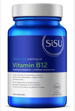 Sisu Vitamin B12 1000mcg Methylcobalamin 180 Sublingual Tablets | 777672010292