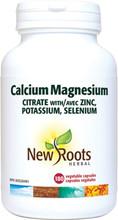 New Roots Herbal Calcium Magnesium Citrate with Zinc, Potassium, Selenium | 628747102292