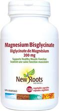 New Roots Herbal Magnesium Bisglycinate 200mg - 120 caps | 628747123082