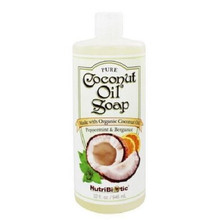 NutriBiotic Pure Coconut Oil Soap Peppermint & Bergamot 946mL | 728177015145