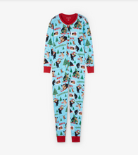 Little Blue House by Hatley Adult Union Suit Wild About Christmas - front