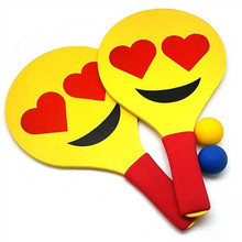 Relaxus Moji Hits Paddle Ball Game - Heart Eyes | REL-525673 | 0628949056745
