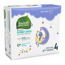 Seventh Generation Overnight Diapers - Stage 4 (22-32 lbs.) 24 count |732913441310