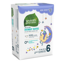 Seventh Generation Overnight Diapers - Stage 6 (35+ lbs.) 17 count | 732913440702