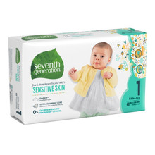 Seventh Generation Free & Clear Baby Diapers - Size One 40 count | 732913440603