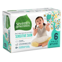 Seventh Generation Free & Clear Baby Diapers - Size Six 20 count | 732913440658
