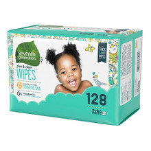 Seventh Generation Free & Clear Baby Wipes Refills - Resealable Packaging 128 count | 732913342174