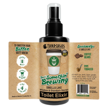 Turdcules There's Somethin' Brewing Toilet Elixir 2 fl/oz Label