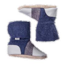 Nooks Design Booties Blue/Grey with Tweed Newborn | 628110356369