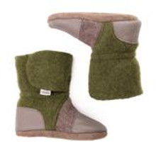 Nooks Design Booties Green/Brown with Tweed - Newborn| 628110356321