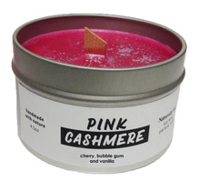 Naturally Vain Pink Cashmere Candle 4.5 oz
