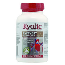 Kyolic Aged Garlic Extract Extra Strength One A Day Formula 1000mg - Everyday Support 60 Veg Tablets | 772570394055
