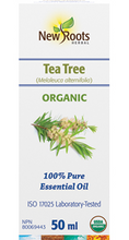 New Roots Herbal Tea Tree Essential Oil - Organic 100% Pure 50mL | 628747221160