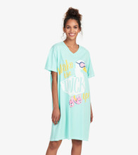 Little Blue House by Hatley Women's Sleepshirt One Size - Wake the Duck Up