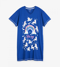 Little Blue House by Hatley Women's Sleepshirt One Size - Rainbow Unicorns | 671374084936