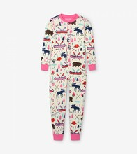 Little Blue House by Hatley Kids Union Suit Pretty Sketch Country