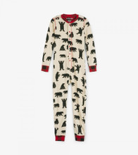Little Blue House by Hatley Kids Union Suit Black Bear