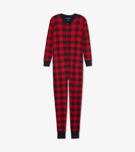 Little Blue House by Hatley Adult Union Suit Moose on Plaid