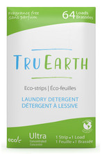 Tru Earth Eco-Strips Laundry Detergent Fragrance-Free 64 Loads | 899962000063
