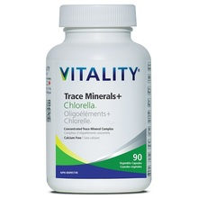 Vitality Trace Minerals + Chlorella (Calcium Free)  90 Veg Capsules | 062044174895