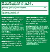 Kaha Vegan Fermented L-Glutamine 400g Nutritional Information