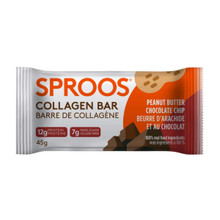 Sproos Peanut Butter Chocolate Chip Collagen Bar 1 Bar