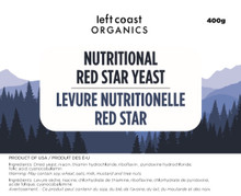 Left Coast Organics Nutritional Red Star Yeast 400g