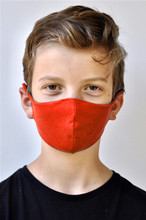 Brave Face Skeena Organic Reusable Face Mask for Kids - Canada Red | 705333599503