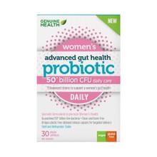 Genuine Health Advanced Gut Health Probiotic Women's Daily 50 Billion CFU 30 Vegan Capsules | 624777008757