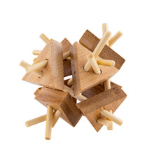Relaxus Eco Bamboo Brain Teaser Puzzles - 1   30628949007747