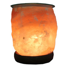 Lumiere de Sel Himalayan Salt Crystal Lamp Diffuser with Glass Top