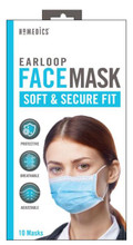 HoMedics Earloop Face Masks for Single Use 10 Pack