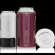 BrüMate Hopsulator TRíO 3-in-1 (12oz/16oz Can) - Glitter Merlot | 748613302653