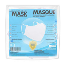 Sequence Health Antibacterial/Anti Droplet Mask for Adults 5 Pack - White | 	628504860007