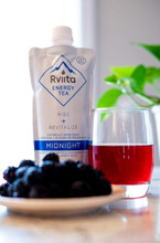 Rviita Energy Tea Rise + Revitalize Midnight Clean Energy Drink 355mL
