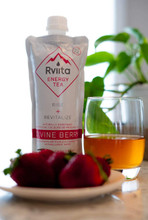 Rviita Energy Tea Rise + Revitalize Divine Berry Clean Energy Drink 355mL