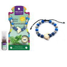 Relaxus Mother Nature Aroma Diffuser Kids Bracelet Kit Dolphin | Herbal Peppermint & Leafy Citronella oil