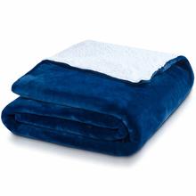 HUSH Blue & White Sherpa Throw 8lb | 309272730340