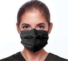 Medicare Disposable 3-Ply Earloop Face Masks - Box of 50 Black | 893193000847