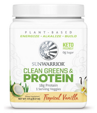 Sunwarrior Plant-Based Clean Greens & Protein 175g - Tropical Vanilla | 814784027548