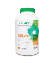 Organika Buffered Instant C 600mg 120 Vegetarian Capsules | 620365030643