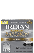 Trojan Supra Non-Latex BareSkin Lubricated Polyurethane Condoms - Odour Free - 22 Count | 061700991807