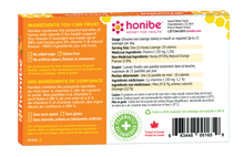 Honibe Honey Lozenges Vitamin C Boost for Health Support - Orange 10 Lozenges