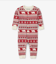 Little Blue House by Hatley Baby Union Suit - Fair Isle Bear