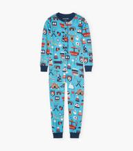 Little Blue House by Hatley Kids Union Suit - Blue Ski Holiday